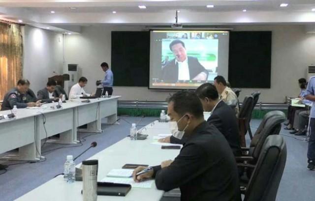កិច្ចប្រជុំគណៈអភិបាលខេត្តប្រចាំខែឧសភាឆ្នាំ ២០២០ តាមរយៈតភ្ជាប់រូបភាពនិងសំឡេង (video conference )